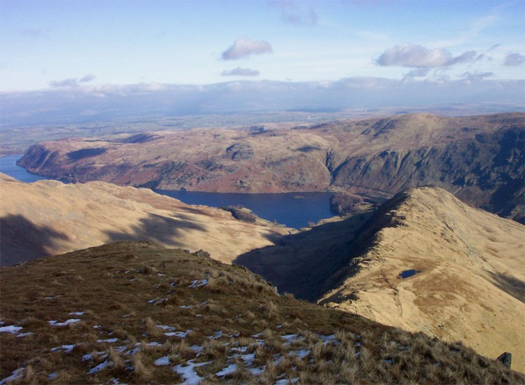 Looking down on Rough Crag and Haweswater