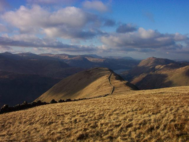 Hartsop Dodd with Ullswater and Place Fell on the right