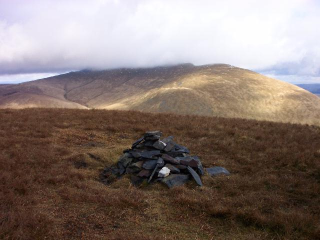 Eastern top of Lonscale Fell with Blencathra behind