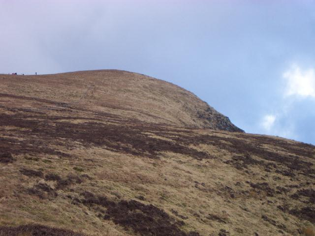Looking up Lonscale Fell