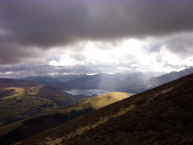 Latrigg in sunlight