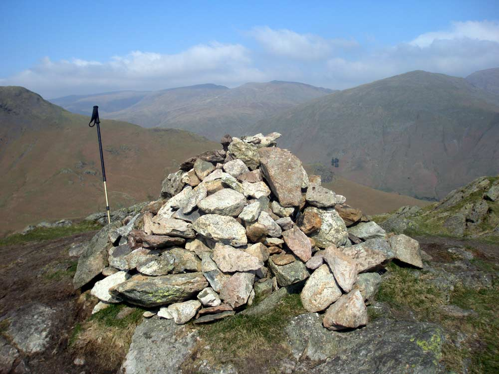 Gibson Knott summit looking towards Helvellyn