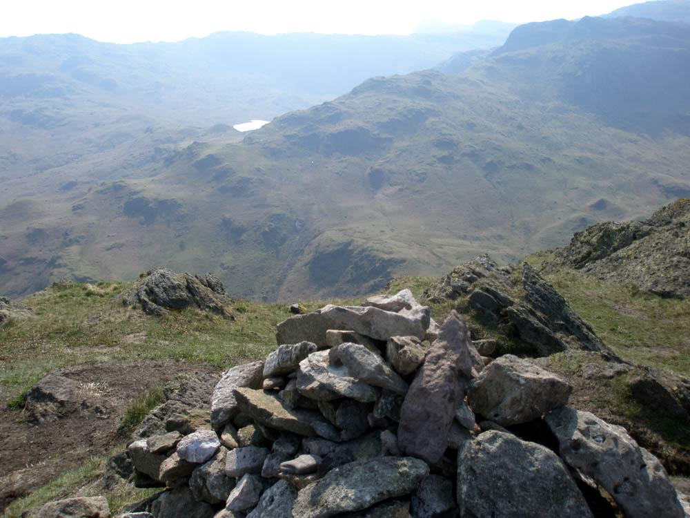 Gibson Knott summit looking towards Easedale Tarn