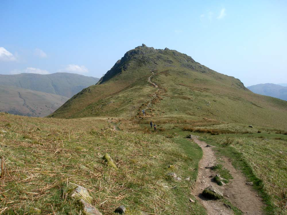 Approaching Helm Crag from Gibson Knott