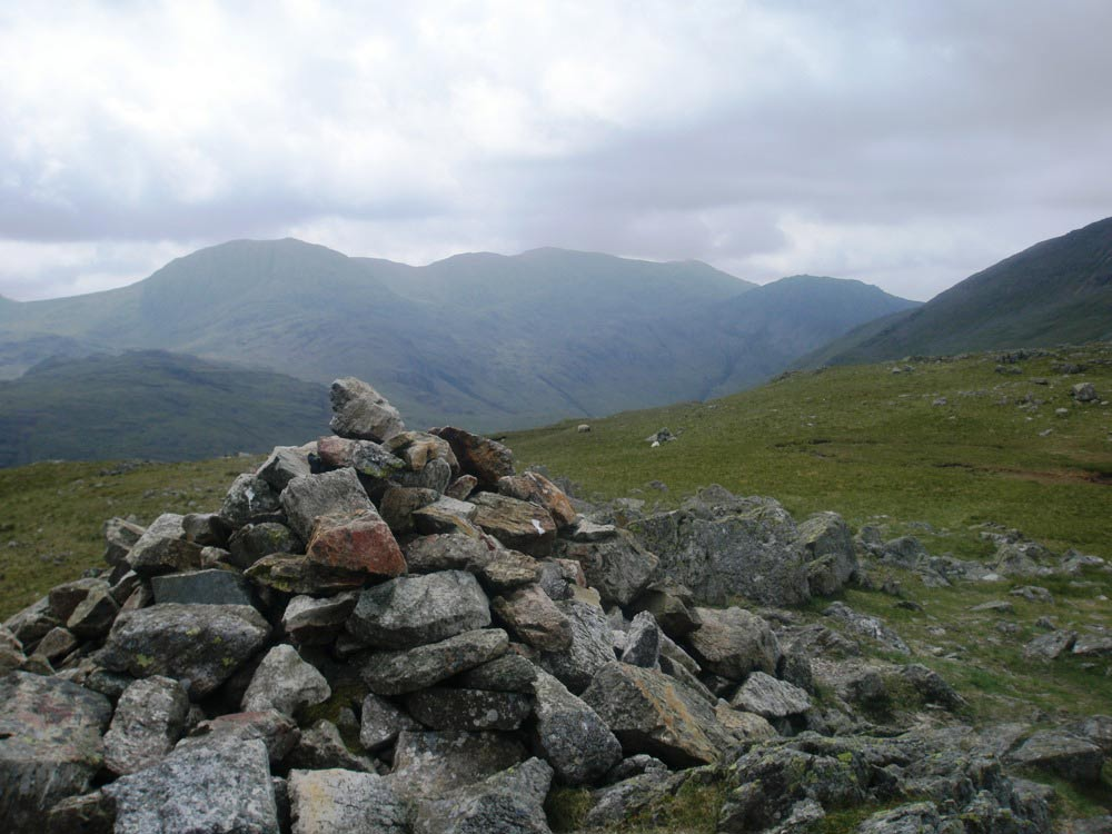Towards the Scafells from Base Brown summit