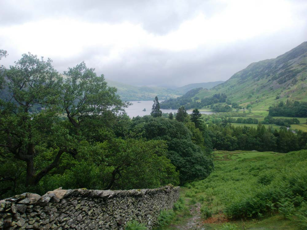 Towards Ullswater from the path up Arnison Crag