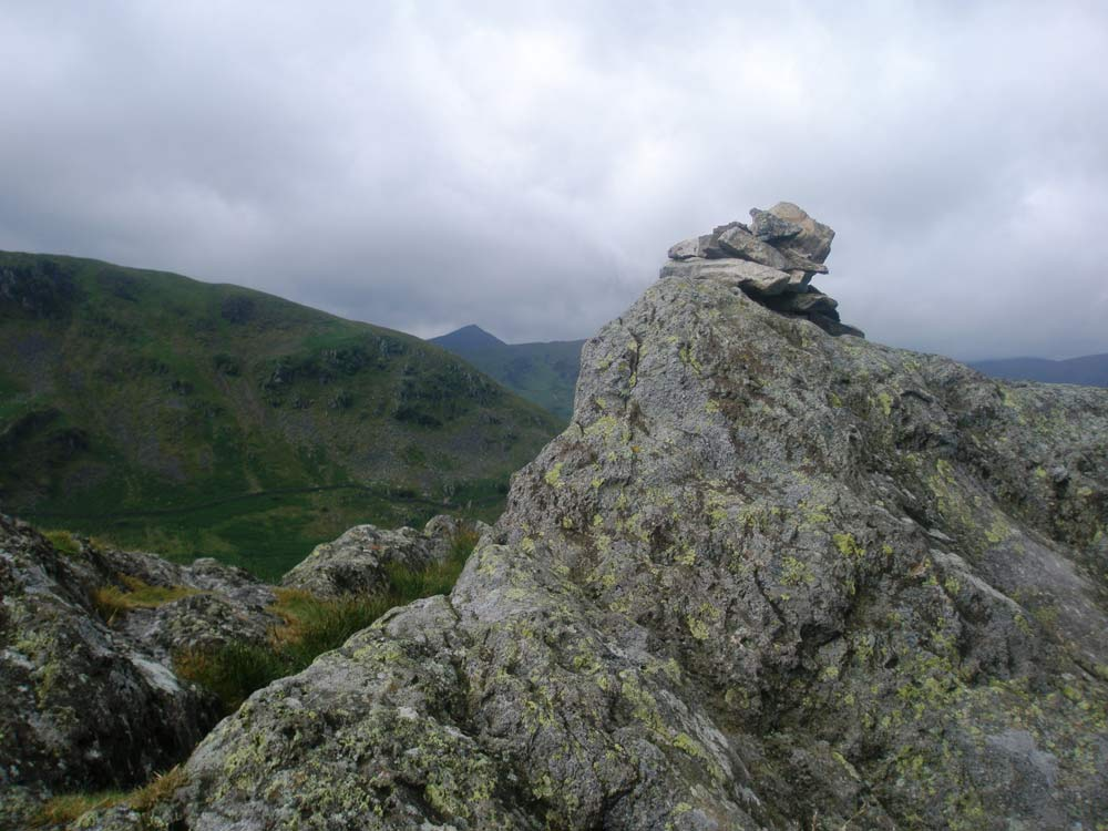 Arnison Crag summit with Catstycam in the distance