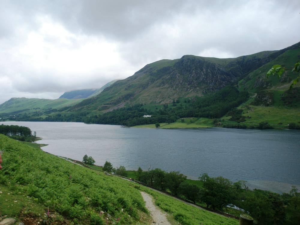 Looking across Buttermere to Goat Crag
