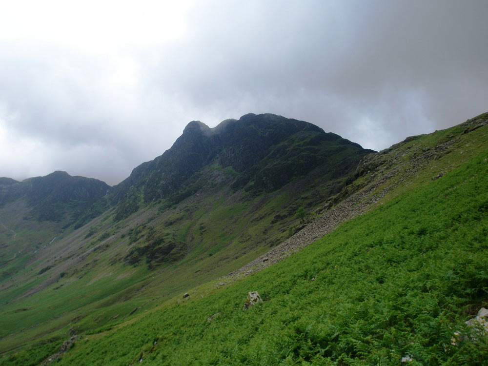 Haystacks as the path climbs from Buttermere