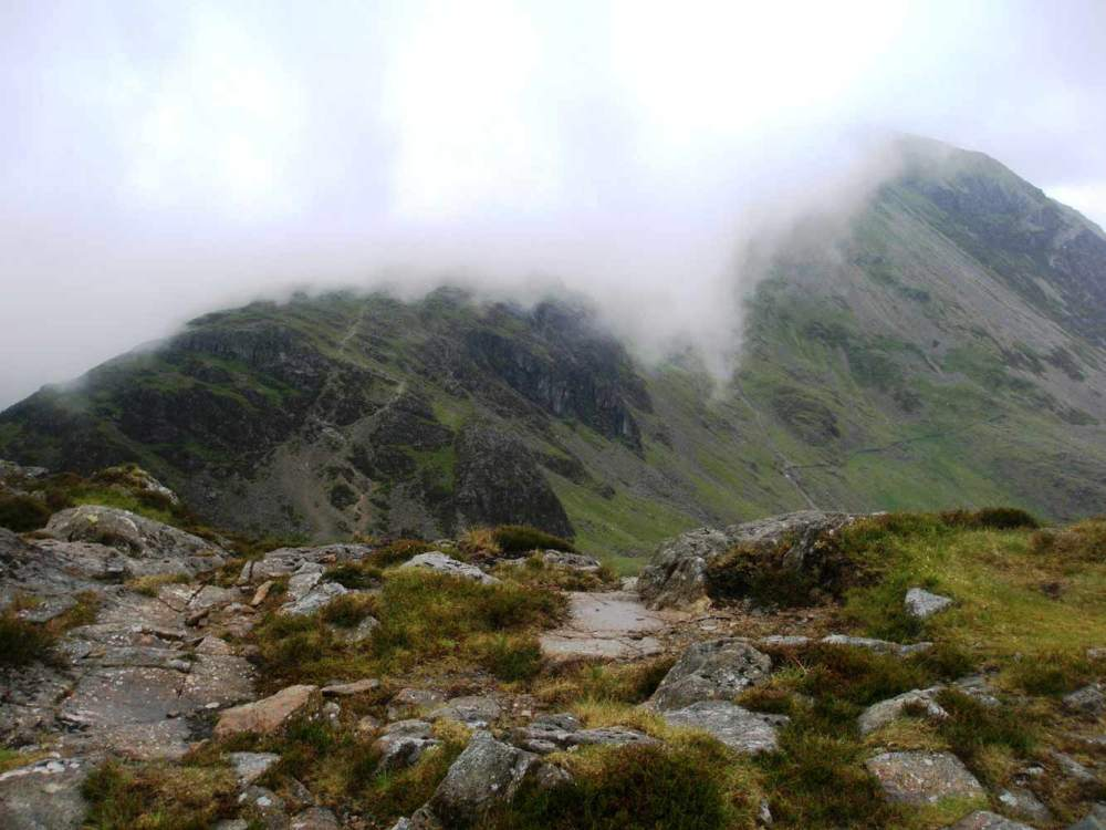 Towards High Crag from the path to Haystacks
