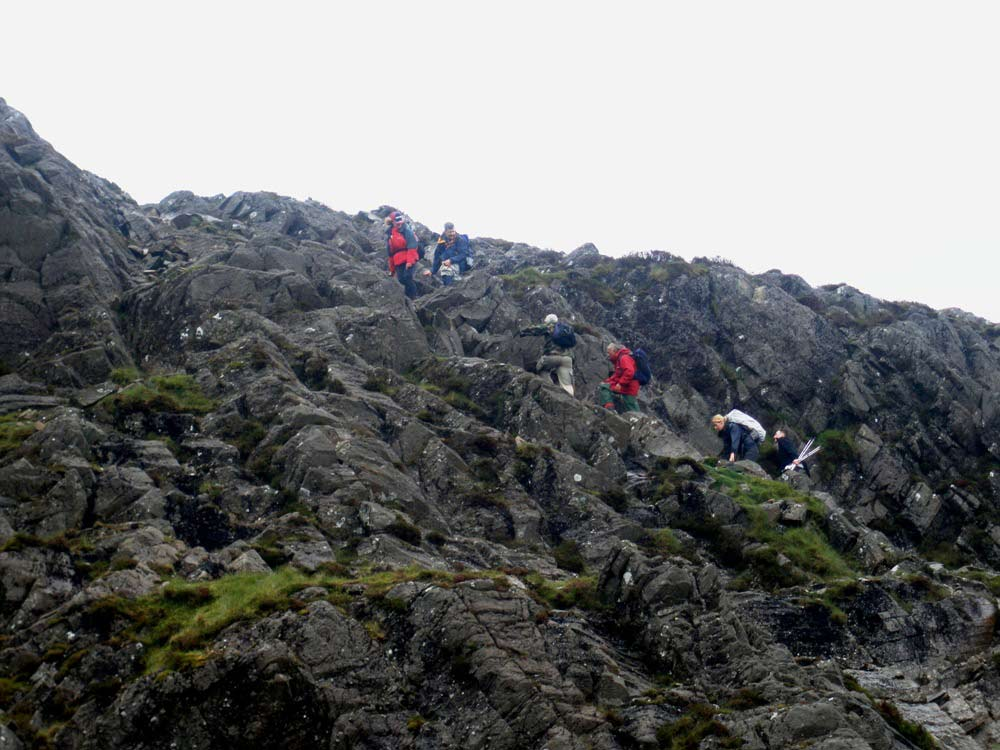 The climb to Haystacks above Scarth Gap