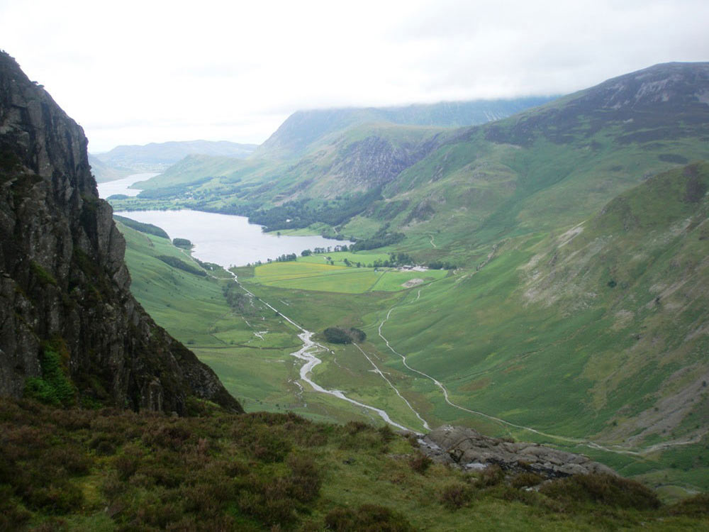 View towards Buttermere from near Green Crag