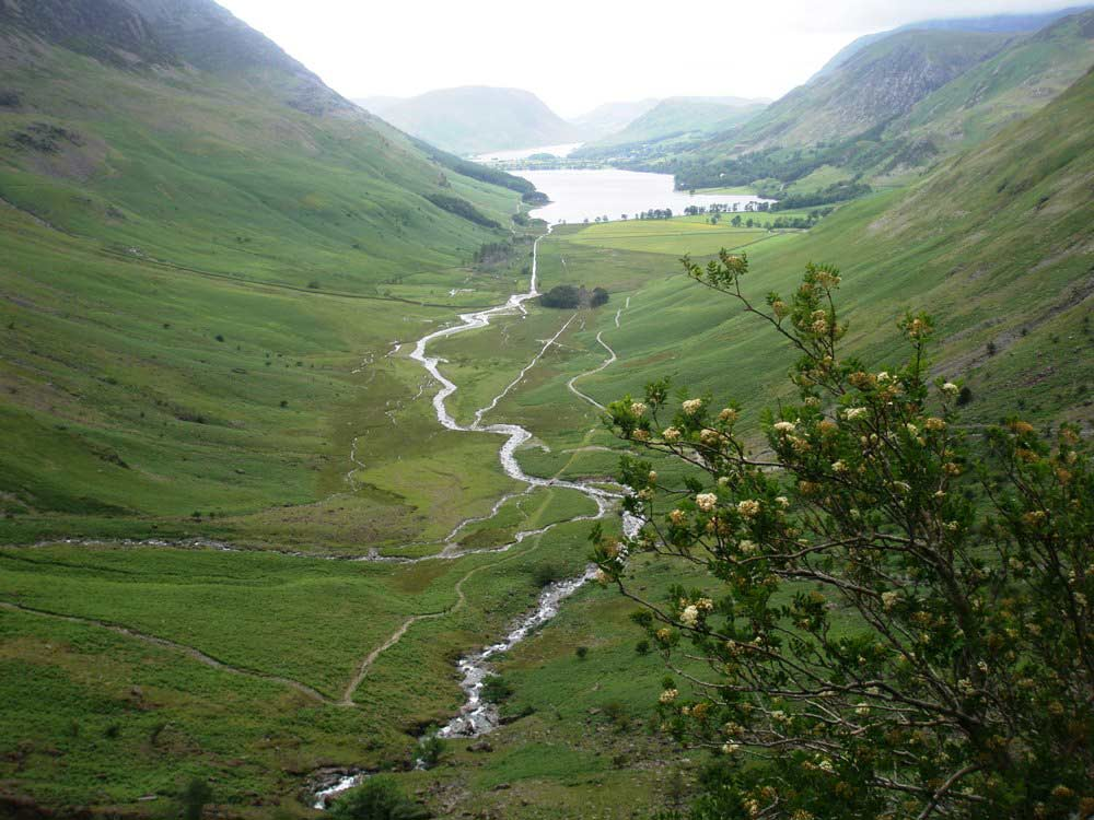 Buttermere from the path along Warnscale Beck